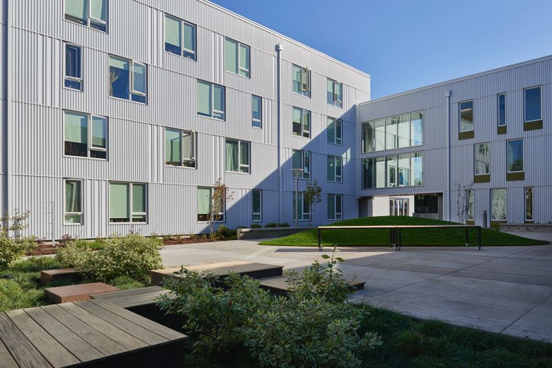 COURTESY: MWA ARCHITECTS  - The design of the St. Francis Park Apartments in southeast Portland brings natural light into many of the shared spaces. Affordable housing design has changed in the 21st century to make spaces more friendly and comfortable, especially with porches, high ceilings and access to nature.