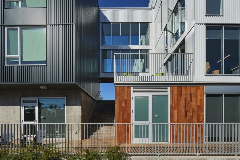 COURTESY: MWA ARCHITECTS  - The skybridge at the St. Francis Park Apartments in southeast Portland. As an example of affordable housing, the design brings natural light into many of the shared spaces.