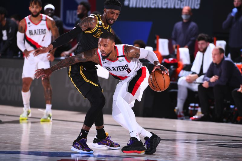 COPYRIGHT 2020 NBAE (PHOTO BY GARRETT W. ELLWOOD/NBAE VIA GETTY IMAGES) - Damian Lillard got banged up in the series with the Lakers, but he has clearly established himself as an NBA superstar. What pieces do the Blazers add to Lillard and their core to take the next step to a championship?