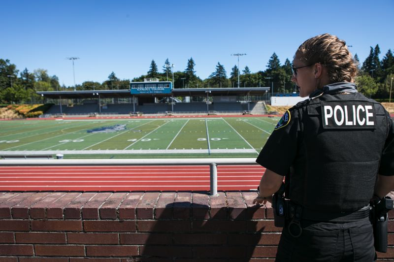 PMG FILE PHOTO - Stephanie McCluskey is the school resource officer for Wilsonville schools.