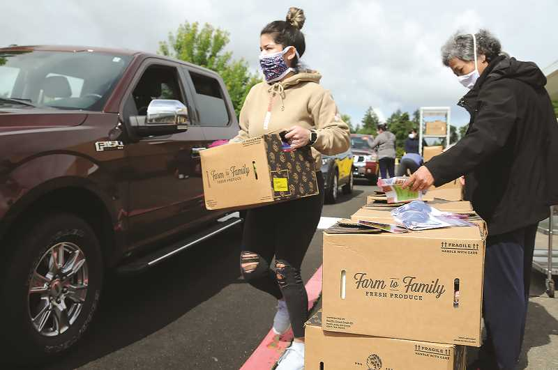 PMG FILE PHOTO - The Farmers to Families Food Box program delivers food purchased by the federal government to families in need around the United States.