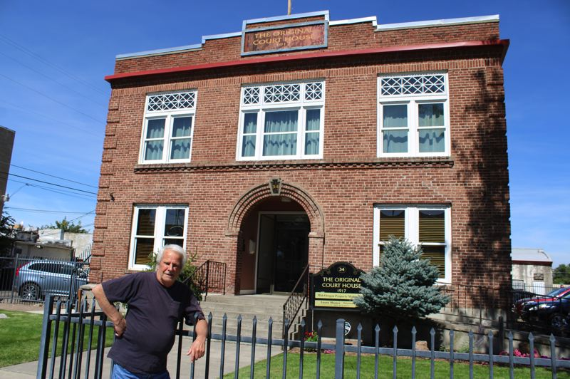 JENNIFFER GRANT/MADRAS PIONEER - Steve Jansen bought the old Jefferson County Courthouse to save the building. But because of his frustrations with the city of Madras and the county, he is considering tearing it down and building a private park in its place.