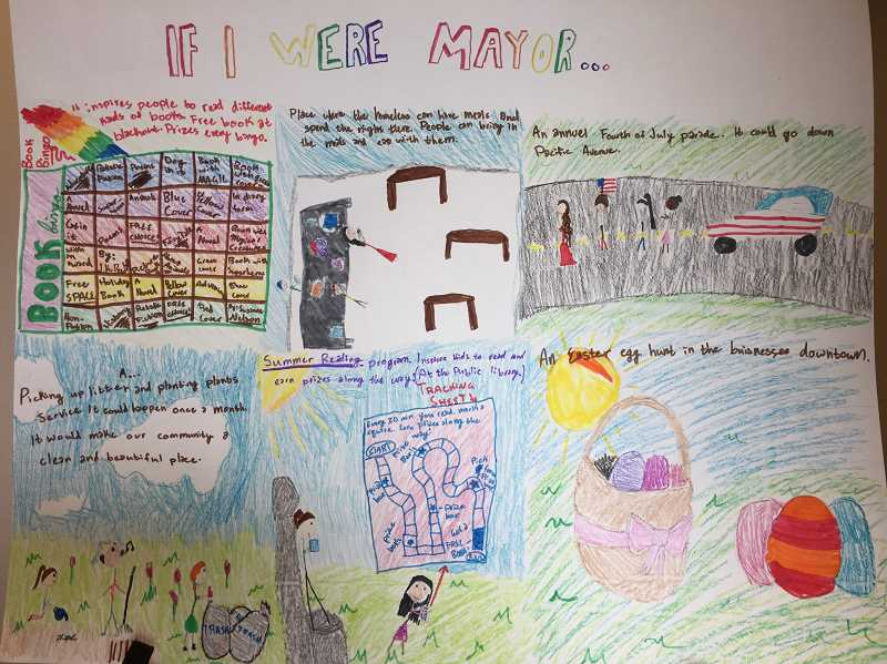 COURTESY PHOTO - Emily Jack's 'If I Were Mayor' poster entry. Jack finished third amongst the state's local qualifiers.