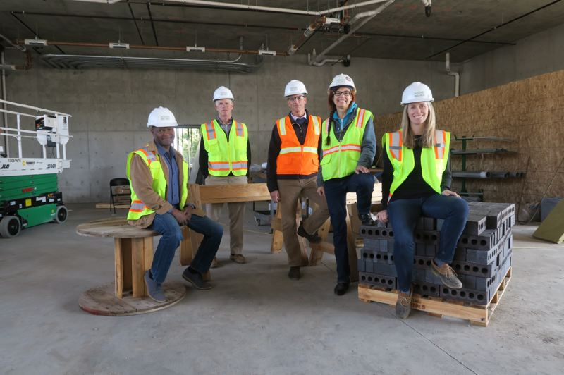 COURTESY: OWCB - The executive group for O'Neill Walsh Community Builders is led by two women and a person of color, and is working to increase diversity in the construction industry. Afton Walsh, who is the Community Outreach Director and project manager for Walsh Construction Co. is on the far right.