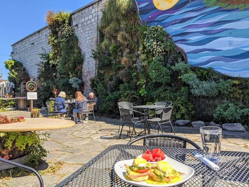 COURTESY PHOTO - Yvonne's at Singer Hill opens for dine-in service starting Sept. 1 at 623 Seventh St., where building owner Phil Yates has constructed vertical gardens.