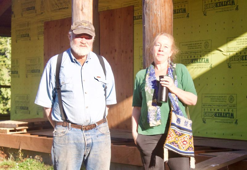 PMG PHOTO: CHRISTOPHER KEIZUR - Chuck Rollins and Rebecca Gandy have both played big roles in bringing a museum to Corbett.