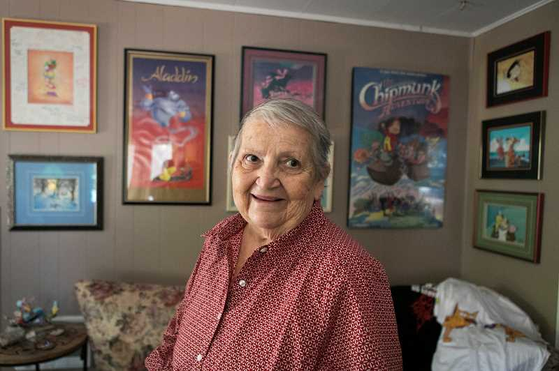 PMG PHOTO: JAIME VALDEZ - Marlene Robinson May in her house in Forest Grove. Robinson May spent roughly 50 years in the animation business.