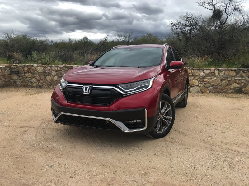 PMG PICTURE: JEFF ZURSCHMEIDE - The large front air dam gives the 2020 Honda CR-V an aggressive look, and that goes for the new Hybrid version, too.