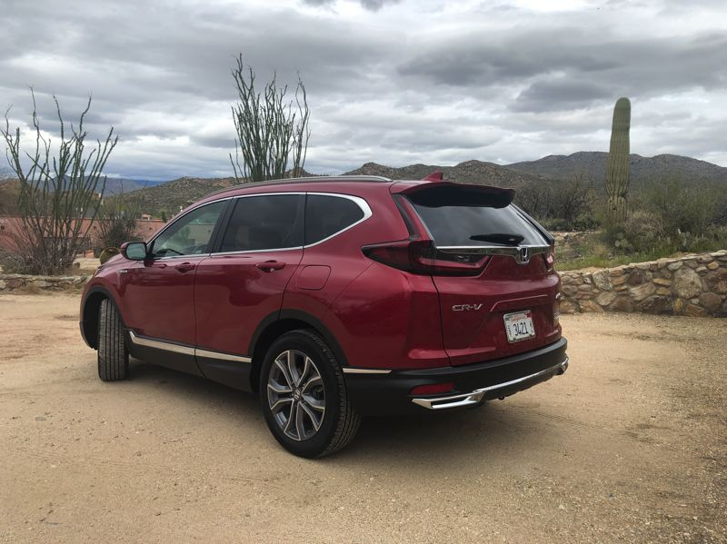 PMG PHOTO: JEFF ZURSCHMEIDE - The exterior of the 2020 Honda CR-V  features crisp lines and a nod to the vertical tail lights on the earlier models.