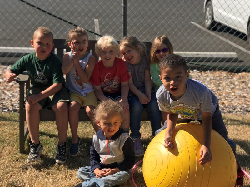 COURTESY PHOTO: CLACKAMAS COUNTY CHILDRENS COMMISSION  - Children at the Sandy Ridge Head Start Center are all smiles during a summer camp earlier this year.