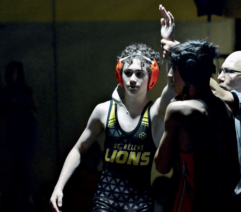 PMG FILE PHOTO - St. Helens' Gavin Schaer stepped up big-time for the Lions in 2019-20, and ought to have a chance for more in 2020-21 if high school sports return.