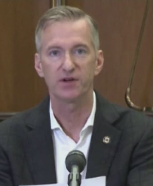 COURTESY PHOTO: KOIN 6 NEWS - Mayor Ted Wheeler at the Tuesday press conference.