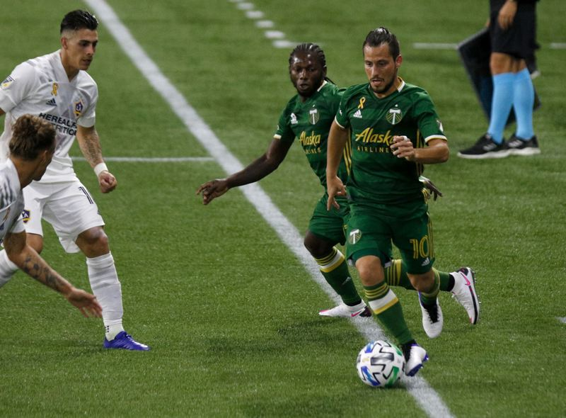 PMG PHOTO: JONATHAN HOUSE - Sebastian Blanco (10), shown in a Sept. 2 match against the LA Galaxy, will miss the rest of the season after suffering a torn ACL in his right knee.