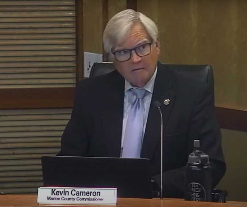COURTESY OF MARION COUNTY - During a Wednesday meeting, Marion County Commissioner Kevin Cameron describes his personal experience of evacuating from his Detroit home amid Santiam Canyon wildfires early Tuesday morning.