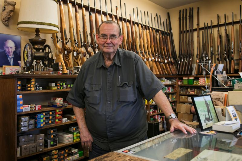 PMG PHOTO: JAIME VALDEZ - Gunsmith Kurt Mueller says arms sales have been up since COVID-19 hit, as people have more free time to play with their guns.
