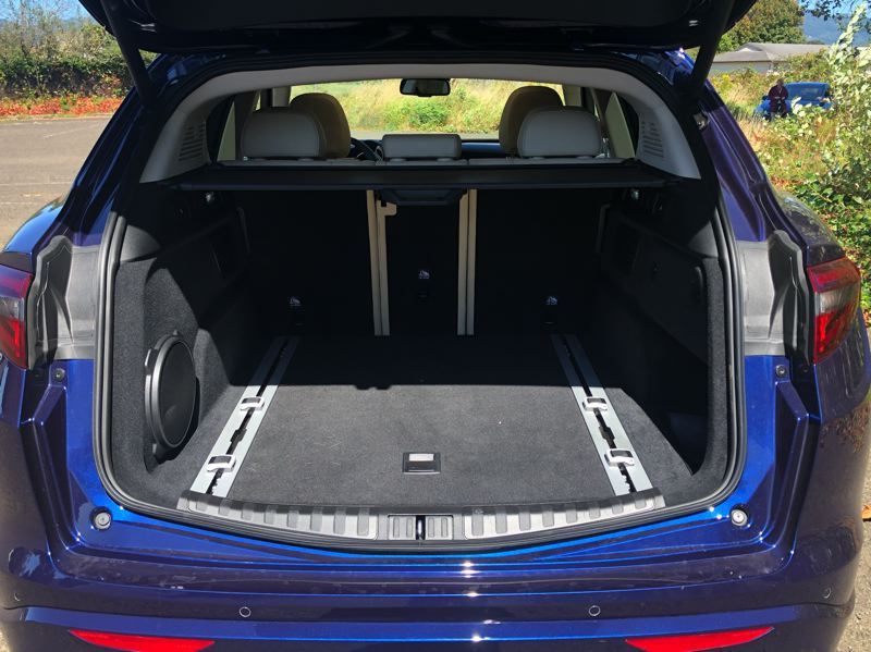 PMG PHOTO: JEF ZURSCHMEIDE - As a crossover, the 2020 Alfa Romeo Stelvio offers a lot cargo space.