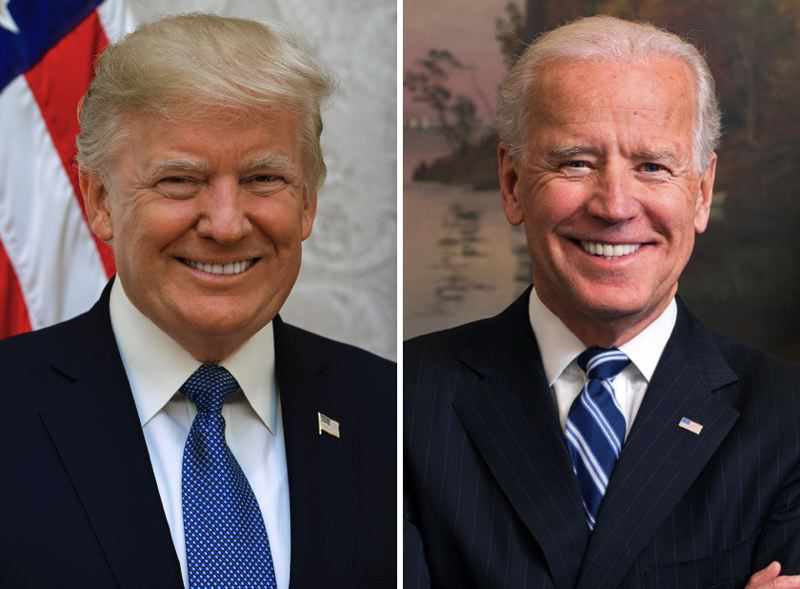 PHOTOS - President Donald Trump and his challenger, Joe Biden, are shown here.