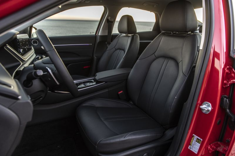 COURTESY HYUNDAI - The front seats are wide and comfortable enough for long trips.
