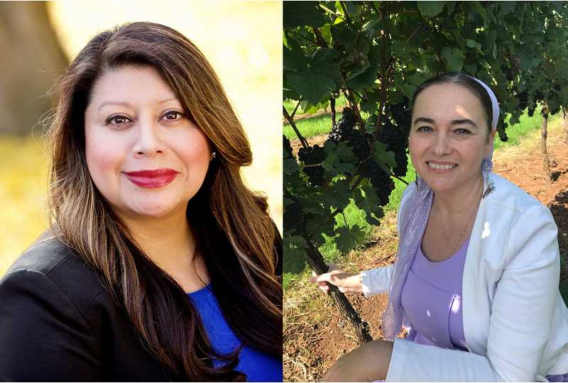 COURTESY PHOTOS - Democratic incumbent Teresa Alonso Leon of Woodburn (left) is seeking her third term as representative of House District 22, and is being challenged by Republican nominee Anna Kasachev of Gervais.
