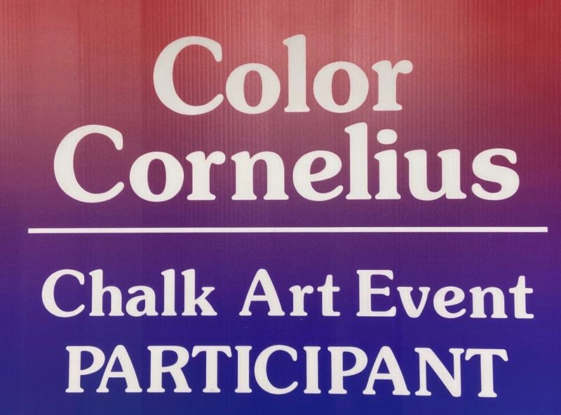 COURTESY IMAGE: CITY OF CORNELIUS - Cornelius has postponed its chalk art event 'Color Cornelius' until Saturday, Sept. 19.