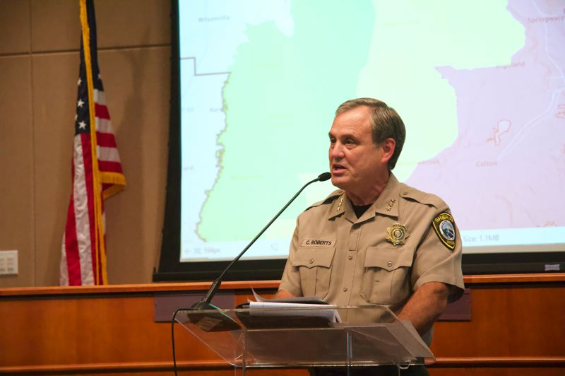 PMG PHOTO: SAM STITES - Clackamas County Sheriff Craig Roberts