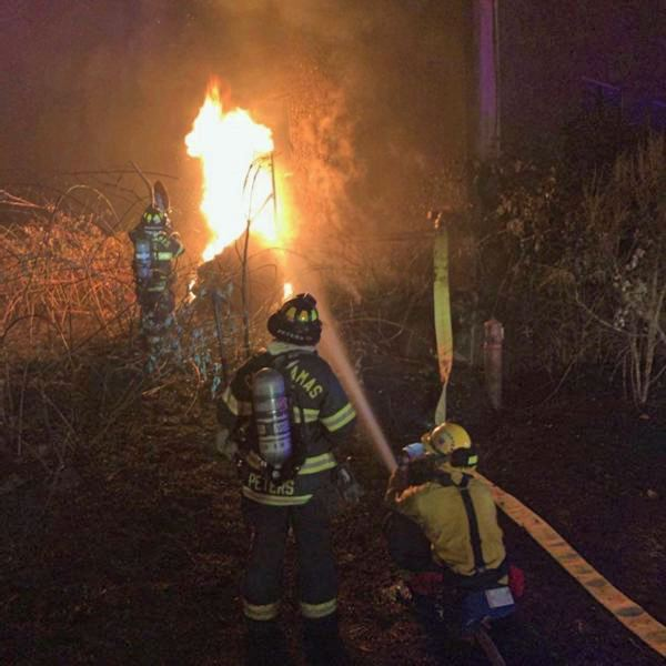 COURTESY PHOTO: CLACKAMAS FIRE DISTRICT - Crew work to contain multiple wildfires throughout Clackamas County.