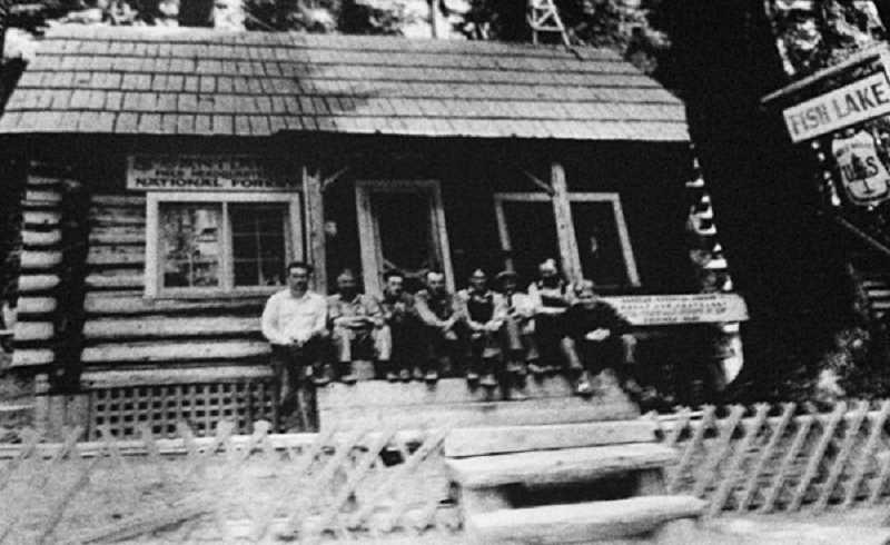 PHOTO COURTESY OF BOWMAN MUSEUM  - The Santiam Wagon Road was constructed from Sweet Home to Camp Polk as a passageway to Central Oregon and beyond from the Willamette Valley.