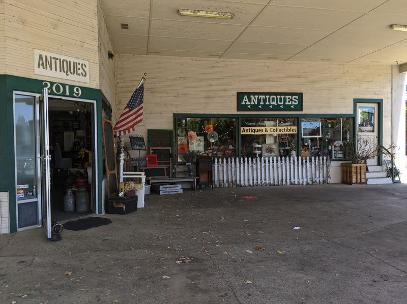PMG: JOSEPH GALLIVAN - Karen Allen-Culp who runs Forest Grove Corner Antiques and Collectibles says a PPP loan got her through the shutdown when sellers who rent space there could not cover their rent. With cost cutting, things are improving steadily.