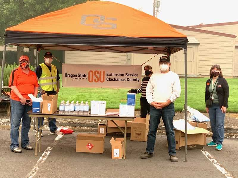 COURTESY PHOTO: KIMBERLY JACOBSEN - On Wednesday, Sept. 16, OSU Extension staff, Northwest Family Services, the Oregon City Rotary Club and volunteers distributed a total of 5,373 masks to migrant workers and agricultural producers.