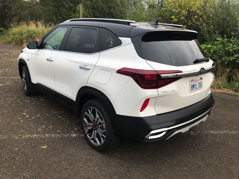 PMG PHOTO: JEFF ZURSCHMEIDE - The 2021 Kia Seltos is bold without looking like a military vehicle or an off-road rig.