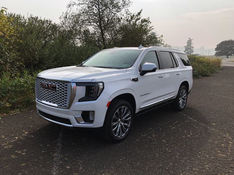 PMG PHOTO: JEFF ZURSCHMEIDE - The 2021 GMC Yukon Denali is available with your choice of three engines and two four-wheel-drive systems for the ultimate in go-anyywhere, tow-anything driving.
