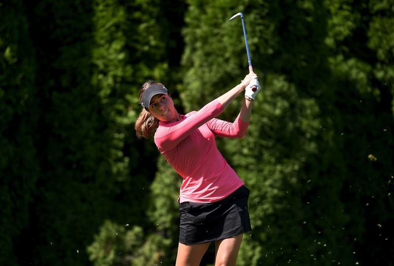 COURTESY PHOTO: STEVE DYKES/GETTY IMAGES - Georgia Hall led the tournament on the back nine, before Ashleigh Buhai forced a tie with a birdie on No. 18.