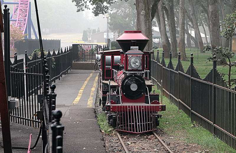 DAVID F. ASHTON - Its rail cars have been put in storage for the season, and now the Historic Oaks Amusement Park miniature railways locomotive awaits its winterization - having not made a single trip around the tracks in 2020.
