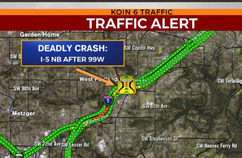KOIN 6 NEWS - The location of the fatal crash.