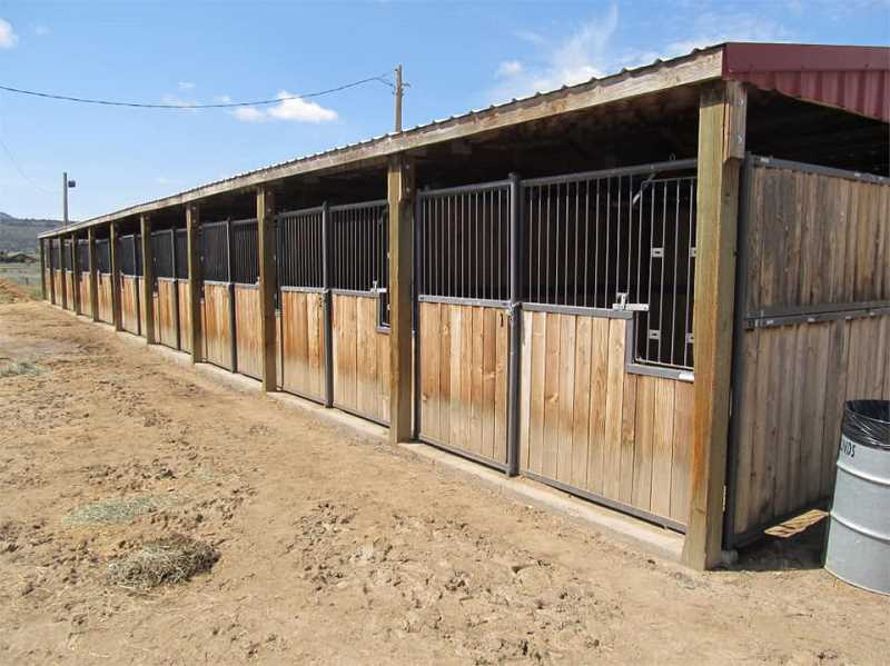 PHOTO COURTESY OF SETH CRAWFORD  - The Crook County Fairgrounds began offering boarding for animals displaced by wildfires, including 200 10x10-foot stalls.
