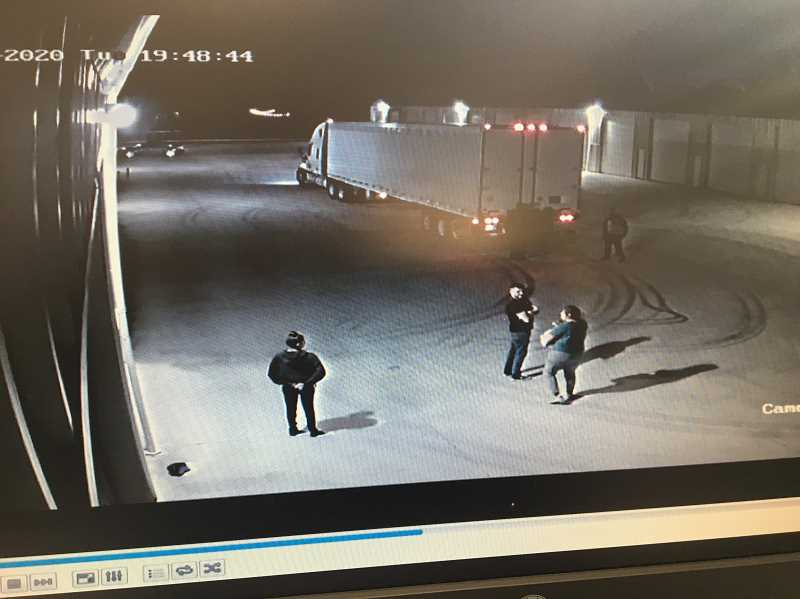COURTESY OF HUBBARD POLICE - Hubbard Police examined video surveillance footage from the past several months as they investigated a major cargo theft operation at a local storage facility.