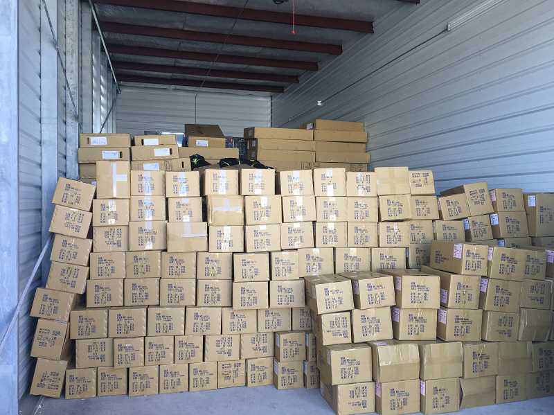 COURTESY OF HUBBARD POLICE - A cargo-theft operation pivoted from a Hubbard storage facility, involving hundreds of thousands of dollars in stolen merchandise.