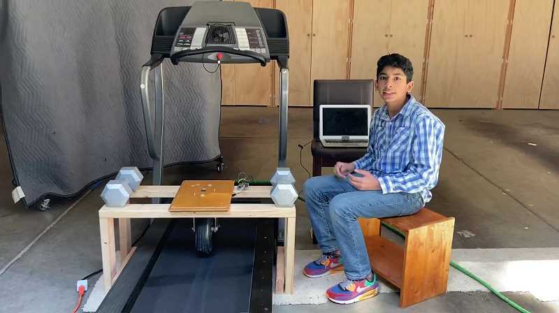 COURTESY PHOTO - The 14-year-old created a real-time system for detecting tire-road friction in different weather conditions that would prevent hydroplaning. The project landed him a top 30 honor out of 3500 applicants.