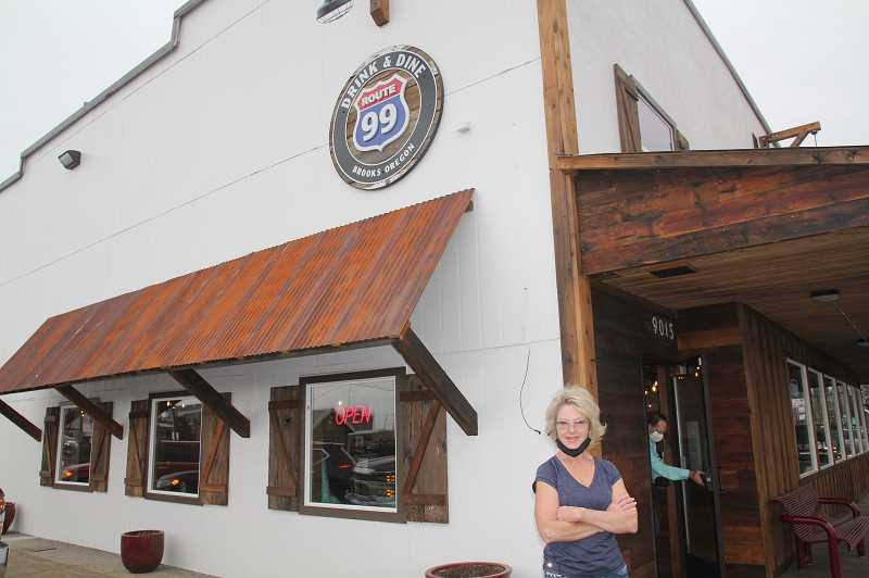 PMG PHOTO: JUSTIN MUCH - Veteran regional restaurateur Annette Day, who grew up on the Lake Labish-area Haslebacher farm, opened Route 99 bar and grill in Brooks this past August.