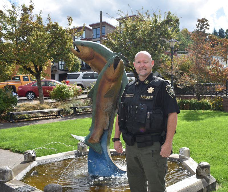 PMG PHOTO: TERESA CARSON - Steve Bevens, who has served the city in law enforcment for years, was recently named police chief for Troutdale.
