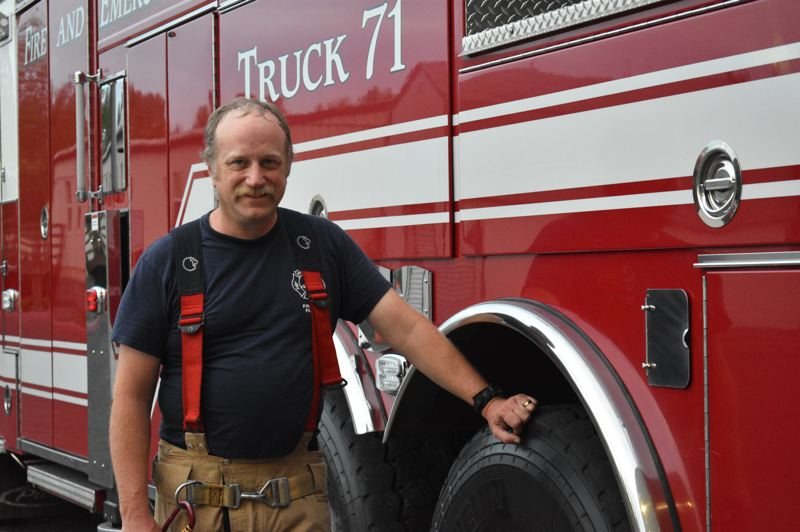 COURTESY PHOTO: PAT MCABERY - Pat McAbery, who has been a firefighter for 28 years, just returned from 12 days fighting the wildfires that have devastated towns in Oregon and cost at least nine people their lives.