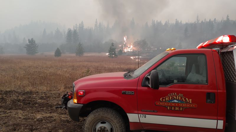 COURTESY PHOTO: PAT MCABERY - The Gresham Fire Department had 12 people on the special task force fighting the wildfires.