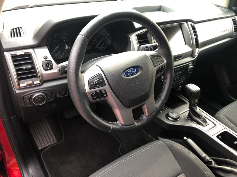 PMG PHOTO: JEFF ZURSCHMEIDE - The 2020 Ford Ranger has a roomy, comfortable cabin and can be ordered aith almost every available automotive technology.
