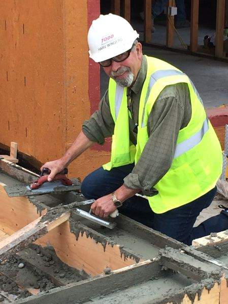 COURTESY: TODD CONSTRUCTION - Harvel Wingerd saw it all, and did most of it, in 50 years with Todd Construction as a superintendent. He once threw a $5 bill at his boss and told him to buy a box of nails because he knew his own time was more valuable than spending it straightening used nails to reuse them. That was when materials were starting to be less costly than manpower.