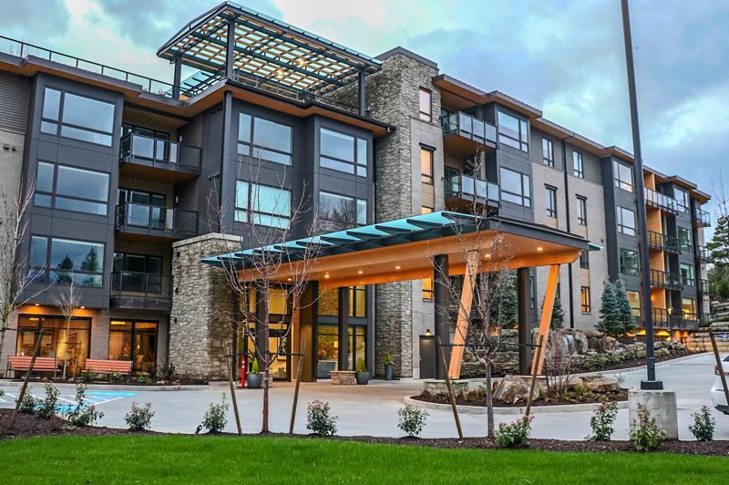 COURTESY: TODD CONSTRUCTION - Harv's final job was Another Harv job Schafer cites is the Springs at Lake Oswego retirement center, which has a green roof, patio, six elevators, indoor swimming pool, two floors of underground parking and a huge food service area. It has a complexity he embraced.