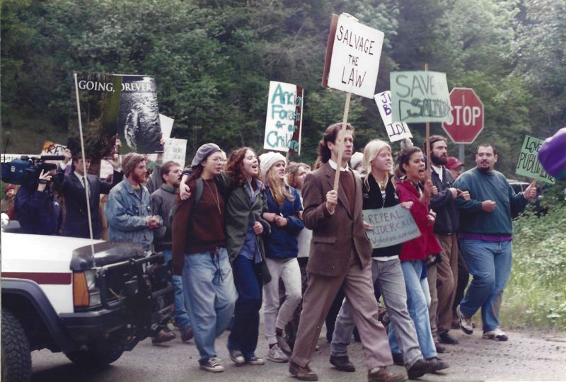 COURTESY PHOTO: MIKE MORROW - Protesters fought against the timber industry's use of Oregon forest land — and helped change Oregon forever, as shown in OPB's 'Timber Wars.'