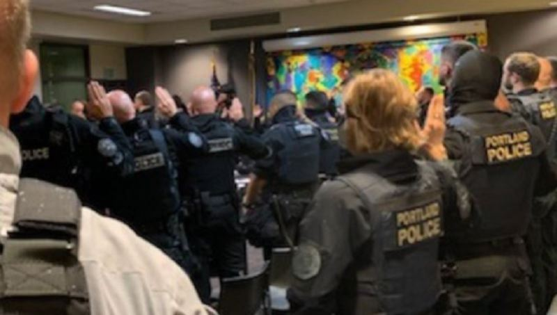 KOIN 6 NEWS - Members of the Portland Police Bureau's's Rapid Response Team being deputized as Federal Marshals at 9 a.m. Saturday