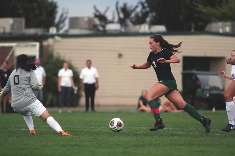 PMG FILE PHOTO - North Marion senior Mya Hammack was named to the 2020 Girls Soccer All-American watch list after guiding the Huskies to the 4A state semifinals last year. Hammack has been named to the 4A All-State team in three consecutive years and has tallied 89 goals going into her final season.