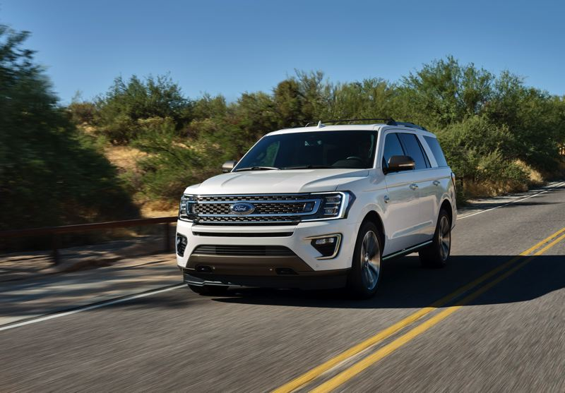 COURTESY FORD - The new King Ranch version of the 2020 Ford Expedition boast unique exterior trim and a powerful standard twin-turbocharged 3.5-liter V6.
