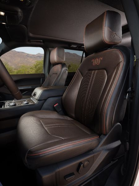 COURTESY FORD - The front seats in the 2020 Ford Expedition King Ranch are as comfortable as a La-Z-Boy.